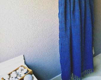 Turkish Hamam Bath Beach Gym Stonewash Towel 100% COTTON Blue Denim Fuchsia Colors FREE SHIPPING