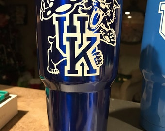 UK wildcat  decal for 30 oz  and 20 oz tumbler