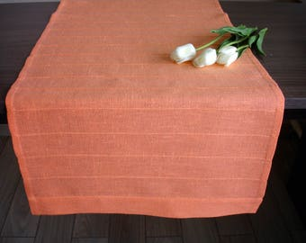 Coral Table Runner Linen Cloth Wedding Living