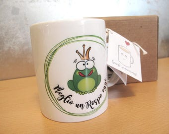 Cup/Mug with illustration frog | Frog and Prince | Cup shows | Bachelorette party | Engagement