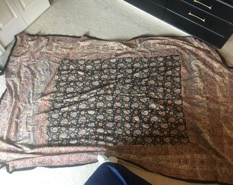 Vintage Paisley Tapestry - black / res