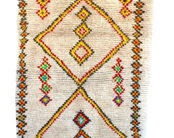 "4'2"" x 7'2"" Ourika Rug OR265. Vintage Moroccan Rug."