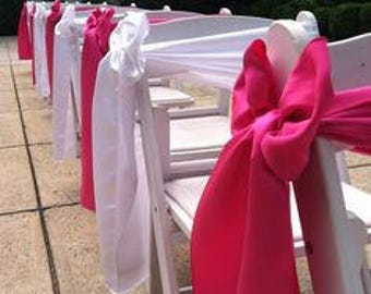 Wedding Chair Sash Etsy - Wedding chair ties