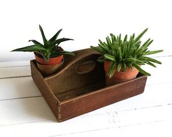 Old planter basket wood