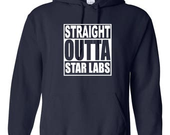 Funny Straight Outta Star Labs Funny Tv shows Hooded Sweatshirt