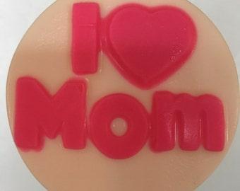 I Love Mom Chocolate Lollipops