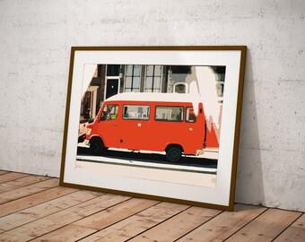 vintage car- pritable home decor poster