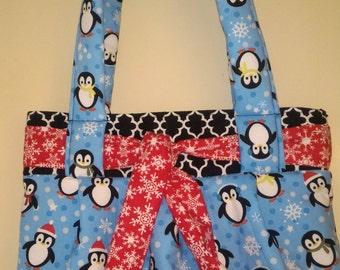 Christmas Penguin Handbag, Christmas Penguin Purse