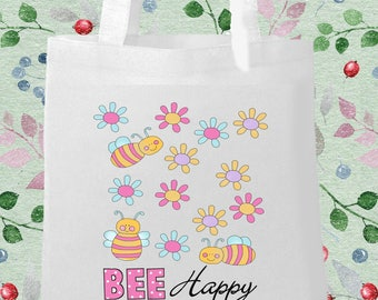 Bee happy Printed Eco Bag
