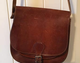 70's crossbody leather bag