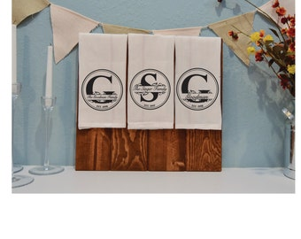 Personalized Dish Towels / Tea Towels / Kitchen Towels / Host or Hostess Gift - LOCAL DELIVERY ONLY
