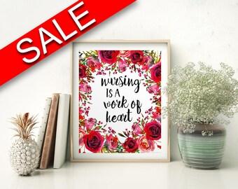 Wall Art Nursing Digital Print Nursing Poster Art Nursing Wall Art Print Nursing Nursery Art Nursing Nursery Print Nursing Wall Decor