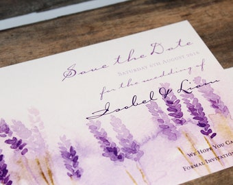 Watercolour Lavender Save the Date Card - SAMPLE ONLY