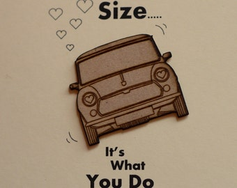 Classic mini Valentines Card......It's not about the size......