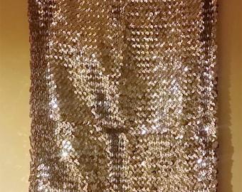 1988, Gold, Mini Stretch, Party Shift/Boob Tube Dress