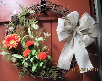 Country Grapevine spring/summer wreath