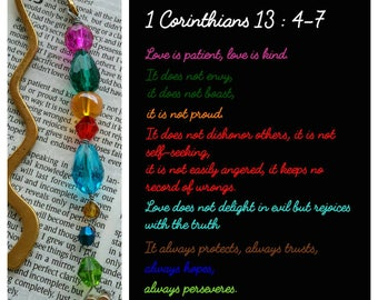 1 Corinthians 13 'love is patient' bookmark