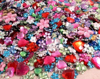 50g assorted mix color acrylic rhinestone confetti