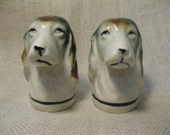 Dog Head Salt and Pepper Shaker Set