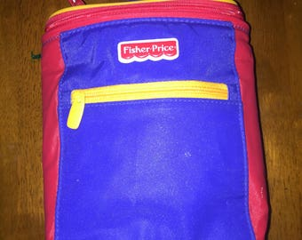 Vintage Fisher Price Kids Lunchbox, Primary Colors