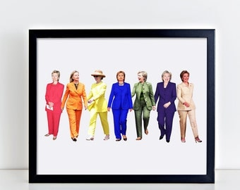 Hillary Clinton Pantsuit Queen, digital printable, printable, hillary clinton, hillary clinton pantsuit