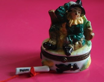 Wizard of Oz Scarecrow trinket box by Midwest of cannon Falls
