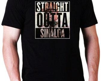 El Chapo Straight Outta Sinaloa T-Shirt  (Ready to ship)