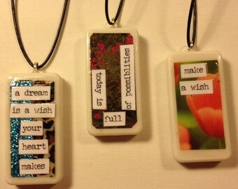 DOMINO COLLECTION ... Domino Necklace, Up-Cycled, Re-Purposed