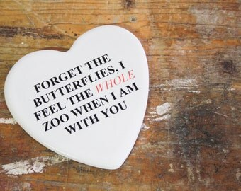 "Valentine's day: ""The whole ...""-romantic Phrase on ceramics (gift for her/him)"