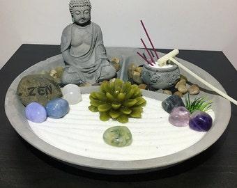 Spiritual Connection Crystal Bhudda Meditation Zen Garden for Home or Office