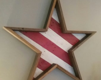 Star and Stripes , Indoor Wall Decor, Outdoor Wall Decor and House Warming Gift.