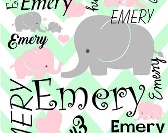 Personalized Elephant Beach Towel
