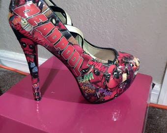 Deadpool One of Kind Shoes