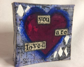 Mini Heart Canvas - You Are Loved