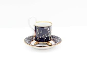Hand Painted / Pirkenhammer / Coffee Cup /Tea Cup & Saucer / Czech porcelain