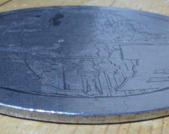 Laser Etched Steel Coaster