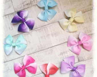 Ombre Hair Bow Clips and Bobble
