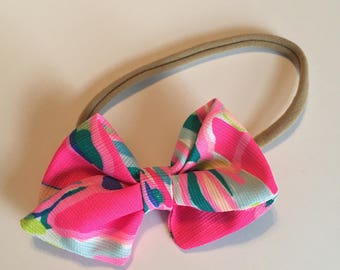 Baby Bow // Baby Headband // Lilly Pulitzer Bow // Toucan Can