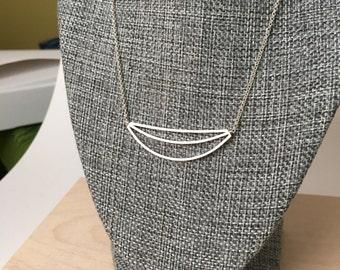Large banana smile necklace