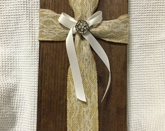 Fabric Cross Wood Chuck #4