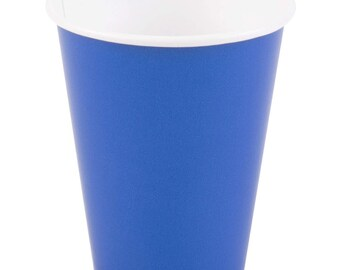 25 Ct Cobalt Blue Poly Paper Cups 9oz Hot/Cold, Party Supplies, Wedding Supplies, Party, Wedding, Paper Cups, Beverage Cups, Cups, Supplies
