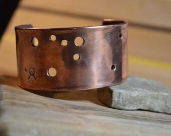 Taurus star pattern copper cuff