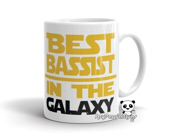 Bass Player Mug - Best Bassist In The Galaxy