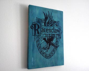 Ravenclaw Crest Wood Sign. Harry Potter Decoration. Wood Wall Art Gift for Harry Potter fans. Blue Wall Art.