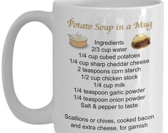 Potato Soup Recipe, Mug Recipes, Recipe Mug, Recipe Soup Mugs, Recipe Cup, Soup Mug