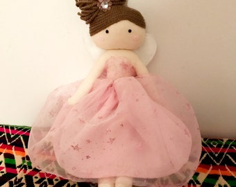 Fairy doll. Fabric Doll. Handmade rag doll. Rag doll. Baby doll. gift for girls. cloth doll. soft doll. ragdoll.
