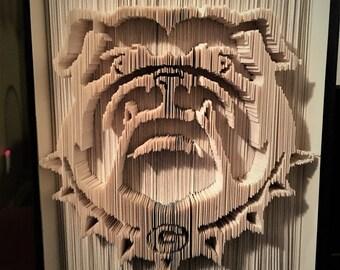 UGA Bulldog Book Folding