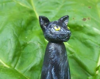 Peg doll cat, 5.5cm customised replica of your cat. Pet memorial gift.