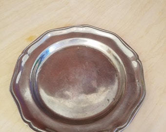 CC Cantrell Pewter Scalloped Plate