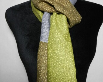 New Tri-Color Cotton Scarf with Fringe